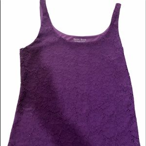 White House Black Market- lace lined tank stretch